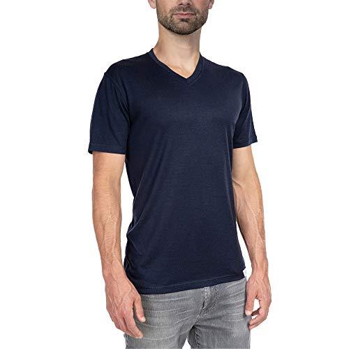 Woolly Clothing Men's Merino Wool V-Neck Tee Shirt – Ultralight – Wicking Breathable Anti-Odor