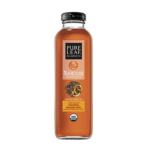 Pure Leaf Tea House Collection, Organic Iced Tea, Valencia Orange, 14 Ounce (8 Bottles)
