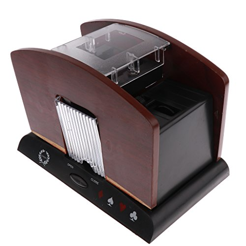 Dovewill Professional Wooden Automatic Card Shuffler Shuffling Machine 4 Decks Poker Parts by Dovewill
