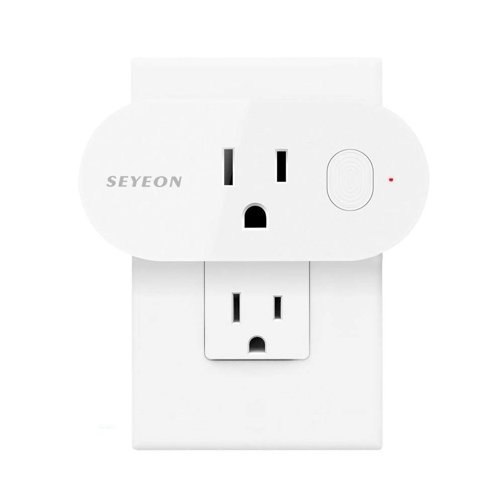 SEYEON Wifi Smart Plug Mini Smart Outlet With Voice Control &Energy Monitoring &Timing Function Compatible With Alexa, Echo, Google Home and IFTTT 1-Pack