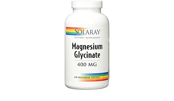 Magnesium Glycinate 400 mg Solaray 240 VCaps: Amazon.es: Salud y cuidado personal