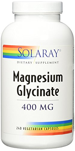 Solaray Magnesium Glycinate 400 mg VCapsules, 240 Count