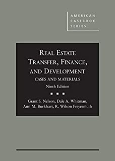 Cases and Materials on Real Estate Transfer, Finance, and Development, 9th (0314288600) | Amazon price tracker / tracking, Amazon price history charts, Amazon price watches, Amazon price drop alerts