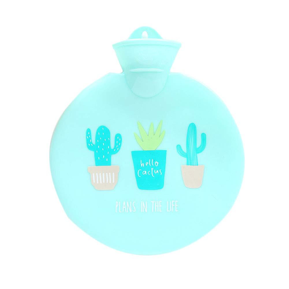 Ellaao Housse ronde pour bouteilles d'eau chaude avec mignon Cactus Sé rie d'injection de l'eau Bouteille d'eau chaude d'hiver chaud Eau Sac rapidement soulager les douleurs