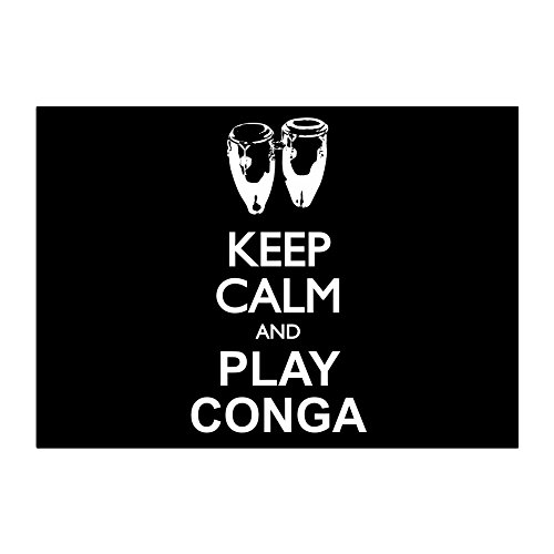 nd play Conga silhouette Pack of 4 Stickers ()