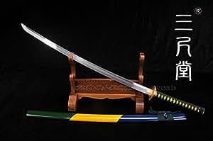 H-Quality Fully Handmade Home decoration Japanese Samurai Sword Spring Steel+Hand Fine Polished Full Tang Blade Katana