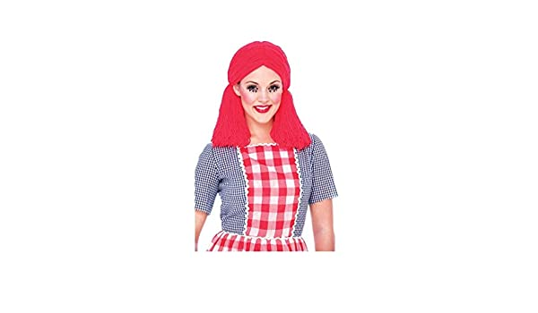 Amazon.com: Paper Magic Rag Doll Adult Costume Wig One Size Red: Clothing