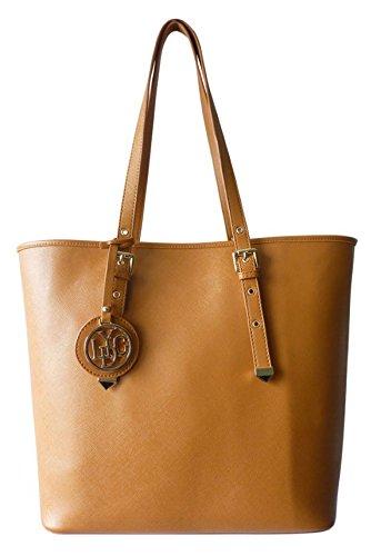 72d244c02de0 LYDC New Ladies Faux Leather Tote Handles Buckle Oversized Shoulder Bag  Zipper Fashion Womens Office Vintage