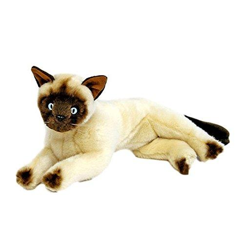 Bocchetta Plush Toys Siamese Cat/Kitten Lying Soft Plush Toy - Blossum Small Cream