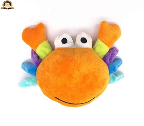 CatYou Dog Plush Toy Stuffed Squeaky Toy, Pet Molars Toy Cute Crab Cartoon Toys for Dogs Cat Pet Chew Squeaker Squeaking…