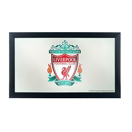 (Trademark Gameroom Premier League Liverpool Football Club Framed Logo Mirror)