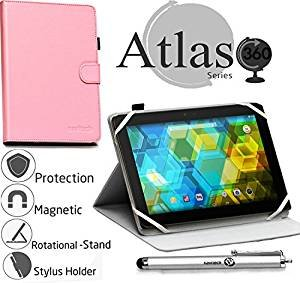 - Navitech Pink Faux Leather Case Cover with Stand Compatible with The Archos 502057 Gen 9 10 inch Tablet