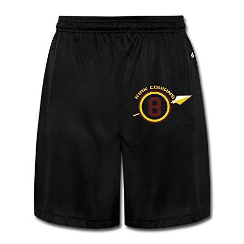 LINNA Men's Washington #8 Football Player Geek Short Pants Size 3X Black