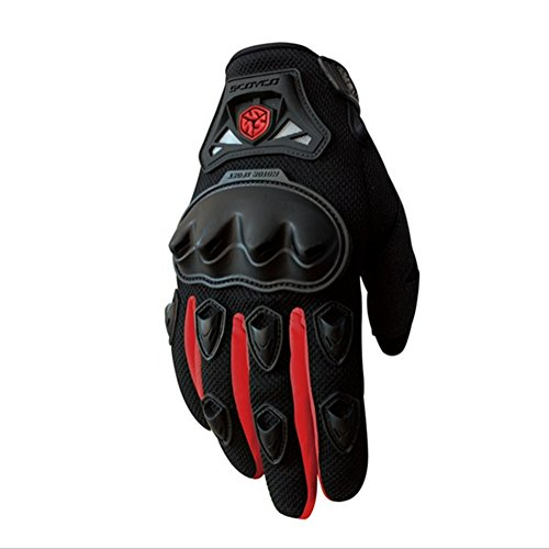 Wonzone Men's BMX MX ATV Powersports Racing Gloves Bicycle MTB Racing Off-road/Dirt bike Sports Gloves (Red, Medium) by Wonzone (Image #1)