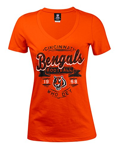 Ladies Nfl Jerseys (NFL Cincinnati Bengals Women's Baby Jersey Short Sleeve V-Neck Tee, Large, Orange)