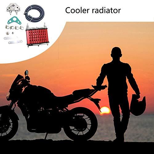 Rot Sen-Sen K/ühlung K/ühler /Ölk/ühler F/ür 50ccm 70ccm 90ccm 110ccm 125ccm Dirt Pit Bike ATV