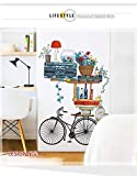 Decorate Your Home Retro Bicycle Decoration Wall Sticker Creative Living Room Bedroom Corridor Walls and Warm self Adhesive Wallpaper Posters