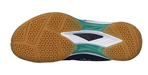 Yonex - Zapatillas de squash y bádminton de Material Sintético para hombre NAVY TURQUOISE