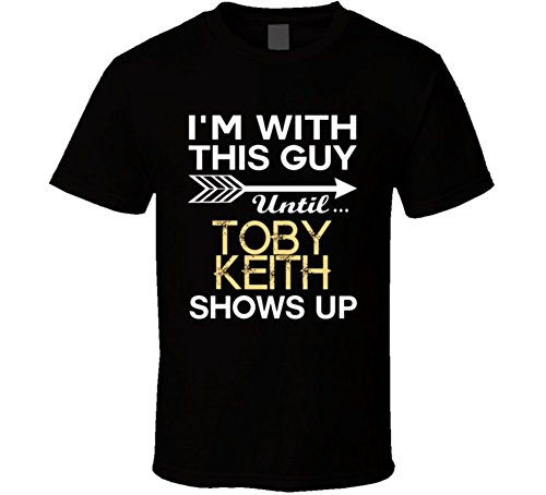 Best Of Tees Im with This Guy Toby Keith Country Music Concert Fan T Shirt M Black