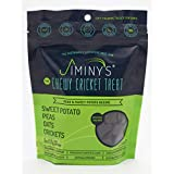 Jiminy's Cricket Protein Dog Treats, 6 Ounce Bag (Peas & Sweet Potato Chewy Treats)