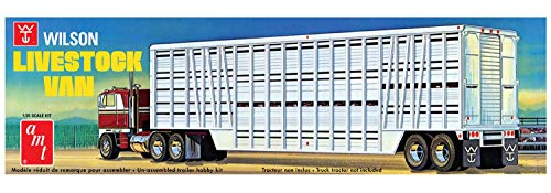 AMT 1106 1/25 Wilson Livestock Van Trailer from AMT