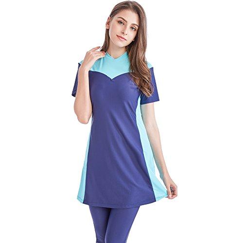 c483dc524f962 YONGSEN Women Plus Size Modest Muslim Swimwear Short-sleeved Burkinis Hijab Muslimah  Islamic Swimsuit Sport Clothing