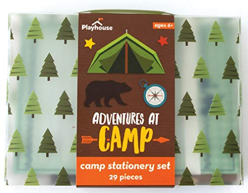 Stationery For Kids (Playhouse 28-Piece Adventures at Camp Stationery Tote Set for)