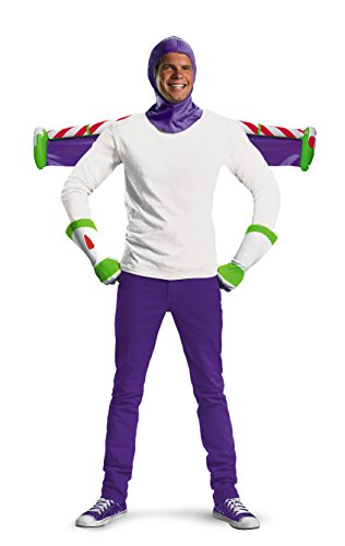 Disguise Men's Disney Pixar Toy Story and Beyond Buzz Lightyear Adult Costume Kit, White/Purple/Green/Red, One (Disney Buzz Lightyear Costume)