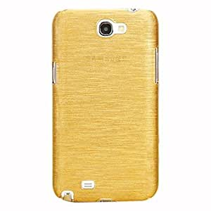 HP Fashion Wire Drawing Hard Case Shell for Samsung Galaxy Note2 N7100 (Assorted Colors) , Yellow