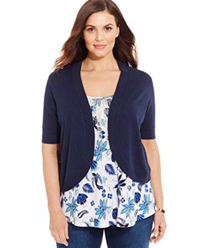 Charter club women elbow sleeve cropped bolero cardigan plus size 3x