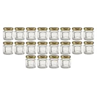 Cornucopia Brands Mini Hexagon Glass Jars, 1.5oz, Pack of 24