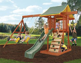 Amazon Com Meadowvale Wooden Swing Set Toys Games