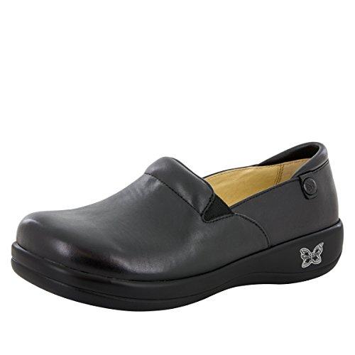 Alegria Women's Keli Professional Slip Resistant Work Shoe,Black Nappa 37 W EU