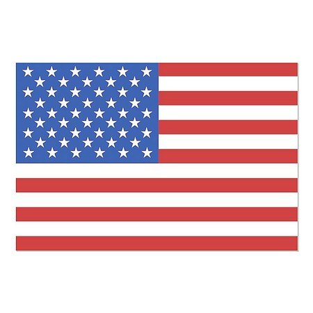 CGSignLab | ''American Flag'' Repositionable Opaque White 1st Surface Static-Cling Non-Adhesive Window Decal (5-Pack) | 30''x20'' by CGSignLab