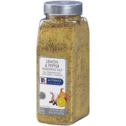 McCormick Culinary Lemon & Pepper Seasoning Salt, 28 oz (Mccormick Lemon Herb Seasoning)