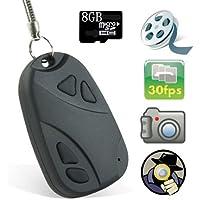 Mengshen® Mini DVR 808 Lens D Car Key Chain Hidden Spy Camera Recorder Micro Camera HD 720x480 Pocket Camcorder (8GB TF Card Included) MS-808C
