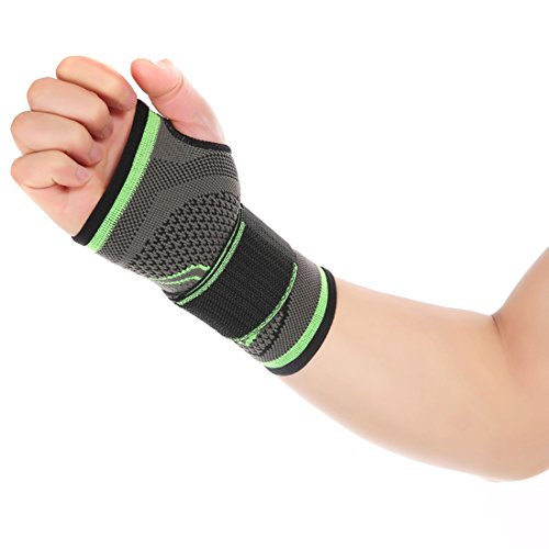 Vertvie Femme/Homme Unisex Protège-poignet Sport Élastique Soins de la Paume Main Bande Bandage Protection de Poignet Compression pour Basketball Tennis Fitness Gym