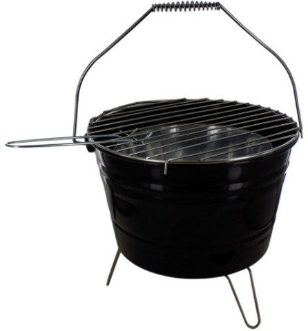 Bar B Q Time Barbecue Bucket with Handle - Pack of 1 ()