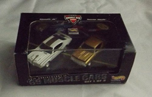 442 Chevelle - Hotwheels Muscle Cars Oldsmobile 442 & Chevrolet Chevy Chevelle - 30th Anniversary of '69 Muscle Cars - 100% Die Cast Metal - Multi-Piece Vehicle from 1st Tool Run