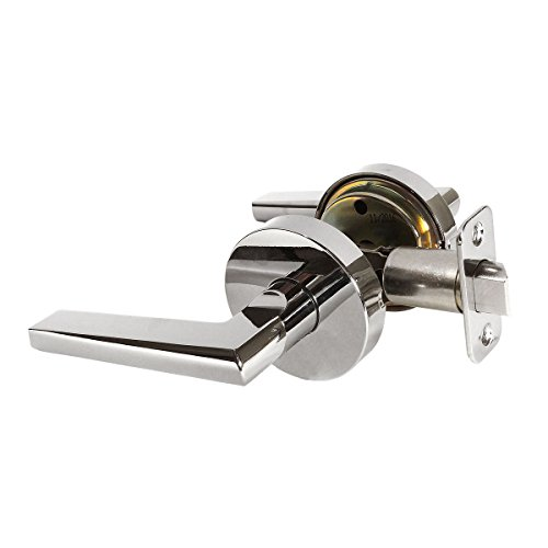 Designers Impressions Madison Design Contemporary Polished Chrome Passage Euro Door Lever Hardware (Hall and Closet) ()