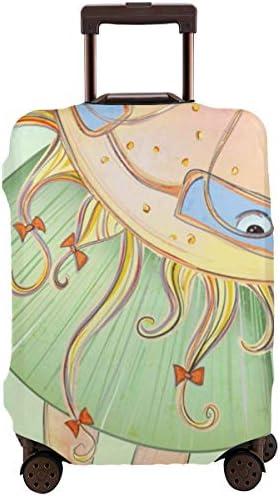 荷物カバー スーツケースカバー トランクカバー ラゲッジカバー 防塵カバー 日当たり 良い夏の少女 キャリーケースカバー 保護伸縮素材 アウトドア 通勤 通学 超軽量 4サイズ 旅行 出張 耐久性 汚れ 傷 防止 盗難防止 おしゃれ 可愛い