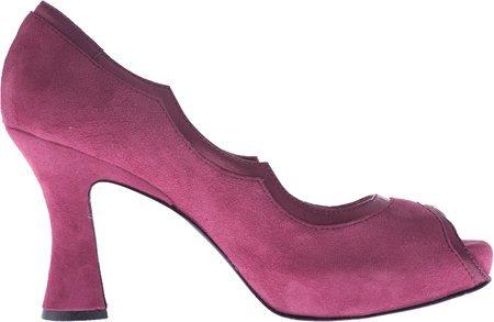 Marchez Vous Women's Margaux Dress Shoes,Claret Suede,8.5 M US