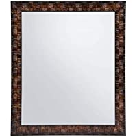 Creative Arts n Frames Brown Color Synthetic Fiber Wood Made Framed Mirror    Size - 10inch x 12inch    Shaving Beauty Makeup Hand Held Vanity Mirror   