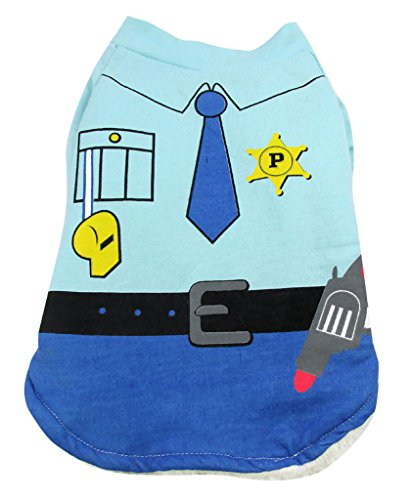 Woo Woo Pets New Arrival High Quanity Cute Policeman Cosplay Pet Costume M
