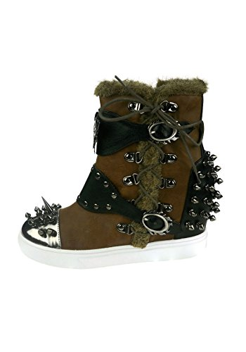 Brown Shoes Phelan Sneaker Butterfly Hades Steampunk Spiked xRYaqwwg6