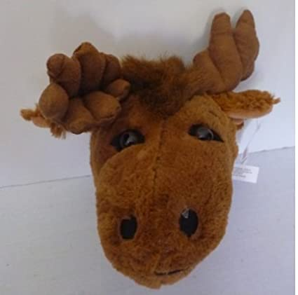 Amazon Com Wall Mountable Moose Head Plush Moose Stuffed Animal