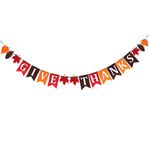 TINKSKY Thanksgiving Nonwoven Banner Home Decoration Party Give Thanks Bunting