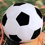 Lanlan Almohada de Pelota de fútbol Peluche de Felpa esponjosa rellena Balón de fútbol de bebé Suave y Duradero Regalo de Jug