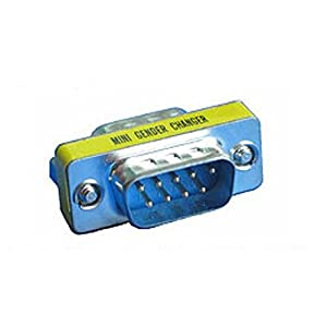 MHP/® Gender Changer DB9M to DB9M Adapter 9 Pin Serial RS232 D-SUB Gender Converter Male to Male