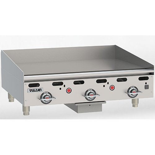 Vulcan Griddle Gas (Vulcan MSA36 Commercial Griddle - Heavy Duty, Gas, 36